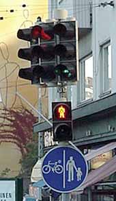 punaisia valoja päin ajaminen